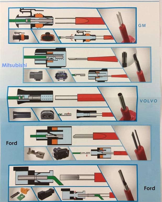 25 In 1 Terminal Removal Tools Release Extractor Crimp Terminal Removal Demonteren Tool Kit Voor Audi Vw Molex Delphi Tyco amp - 3