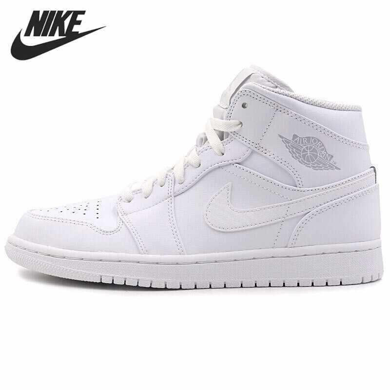 Nike AJ1 Men Basketball Shoes High Help Joe 1 Full White
