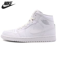 Nike AJ1 Men Basketball Shoes High Help Joe 1 Full White Market Down Leisure Time Motion Air Cushion Sneakers#554724-104(China)