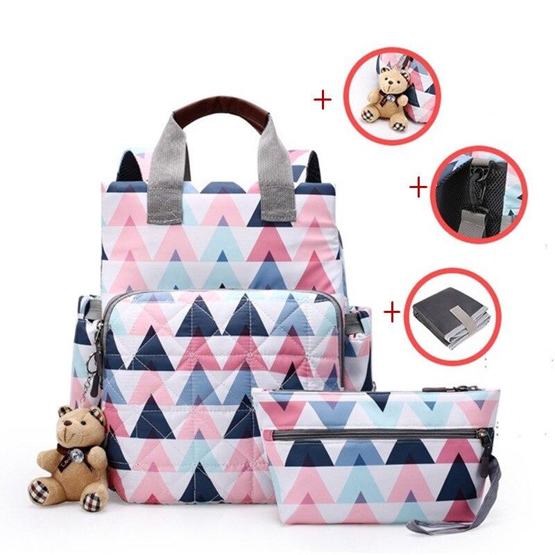 Mummy Backpack Bag Large Capacity Maternal Nappy  Baby Diaper Bag Travel Tote Designer Nursing Nappy Bag For Mom Baby Care