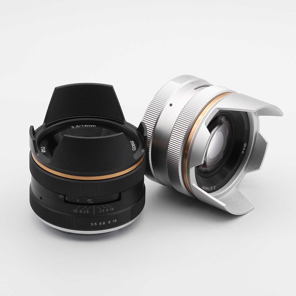 14 мм f/3,5 ручной объектив для sony E Mount NEX Canon EF-M EOS M Fujifilm FX X Olympus Pansonic M43 MFT Micro4/3 14 мм F3.5