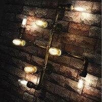Лофт Стиль 8 Огни водопровод бра Спальня Винтаж Edison лампочки Desinger кафе бар свет Бесплатная доставка