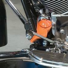 Оранжевый масляный фильтр воронка маслоуловитель сливное масло без капель Универсальный подходит для Harley Sportster FLHTP Honda Suzuki BMW автомобилей