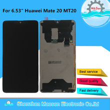 "6.53 ""originale Testato M & Sen Per Huawei Compagno di 20 Display LCD Screen + Touch Panel Digitizer Per 2244*1080 Huawei Mate20 MT20"