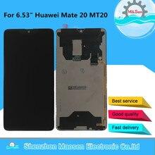 """6.53 """"oryginalny testowany M & Sen dla Huawei Mate 20 wyświetlacz LCD + Panel dotykowy Digitizer dla 2244*1080 Huawei Mate20 MT20"""