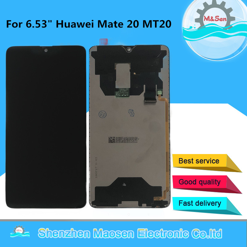Original Tested M&Sen For 6.53 Huawei Mate 20 LCD Display Screen+Touch Panel Digitizer For 2244*1080 Huawei Mate20 MT20Assembly