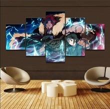 5 Pcs Anime Fate Zero Rider Velvet Waver Painting Canvas Wall Art Picture Home Decor Bedroom Print