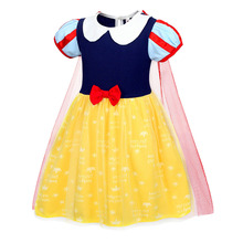 AmzBarley snow white costume Girls Party Cosplay Princess Dresses kids Lace cloak Tutu Dress Toddler girls Bowknot Ball gowns