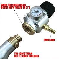 CO2 Mini Gas Regulator T21x 4 Thread CO2 Gas Regulator Gas Line Corny Cornelius Keg Charger Ball Lock Mayitr