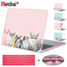 Redlai Animal Prints Laptop Case For Macbook Air Pro Retina 11 12 13 15 Cat Family Hard Mac book Touchbar