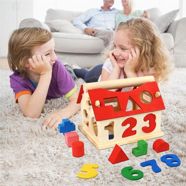 Besegad Engraçado Early Learning Brinquedos Educativos De Madeira Blocos de Construção para Crianças dos miúdos Do Aniversário Do Bebê Presente de Natal Festival