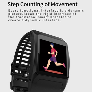 Image 2 - Z01 Smart Bracelet Ip67 Waterproof Fitness Tracker Pedometer Activity Monitor Wristband Big Dial Smartband Heart Rate Smart Ba