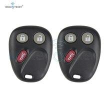 Remtekey 2pcs key fob for GM GMC Hummer H2 Chevrolet Avalanche Cadillac Escalade 2003 2004 2005 2006 3 button 315mhz LHJ011