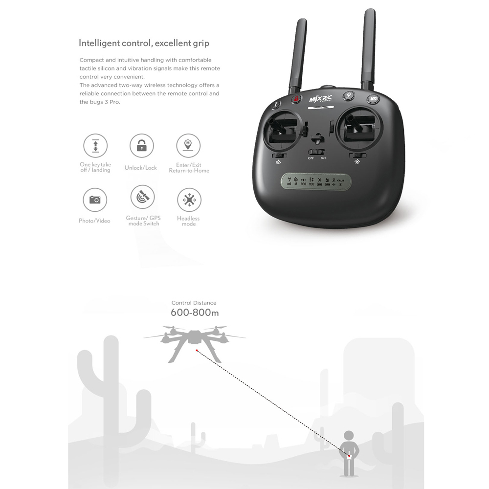 Image 4 - MJX Bugs 3 PRO B3PRO RC Drone Dron 4 Channels Remote Control Quadcopter Helicopter Wifi FPV APP Control Multifunctional Drones-in RC Helicopters from Toys & Hobbies