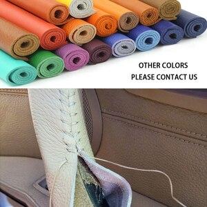 Image 5 - アウディA6 C6 2005 2006 2007 2008 2009 2010 2011 車の内部ドアハンドル手縫製牛革カバー