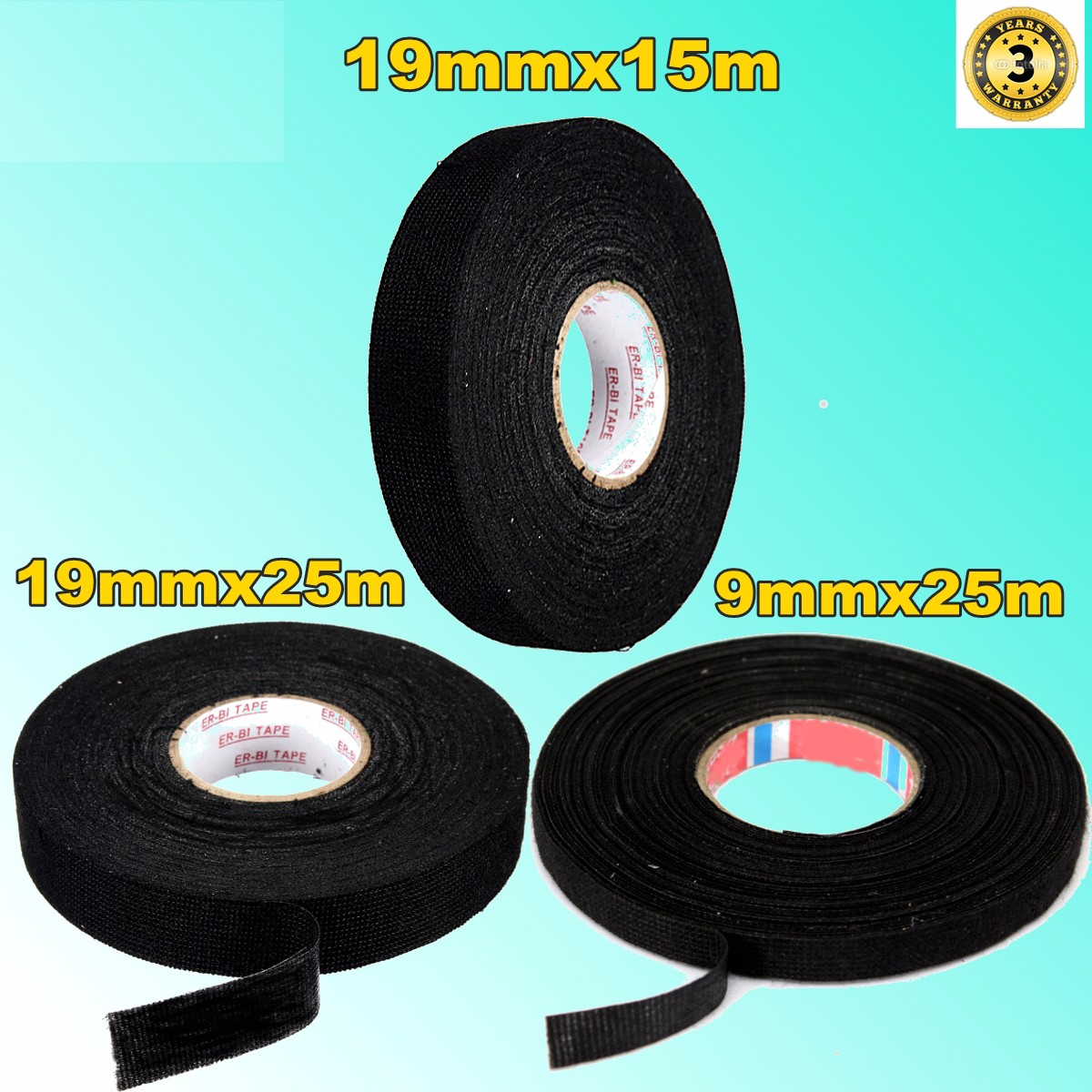 detail feedback questions about anti wear adhesive cloth fabric tape cable looms wiring harness black tapes 19mmx25m 19mmx15m non woven gauze new arrival on  [ 1200 x 1200 Pixel ]