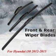"""3 шт. автомобильный передний и задний стеклоочиститель лобового стекла лезвия 2"""" 14"""" 1"""" для hyundai i30 2012 2013"""