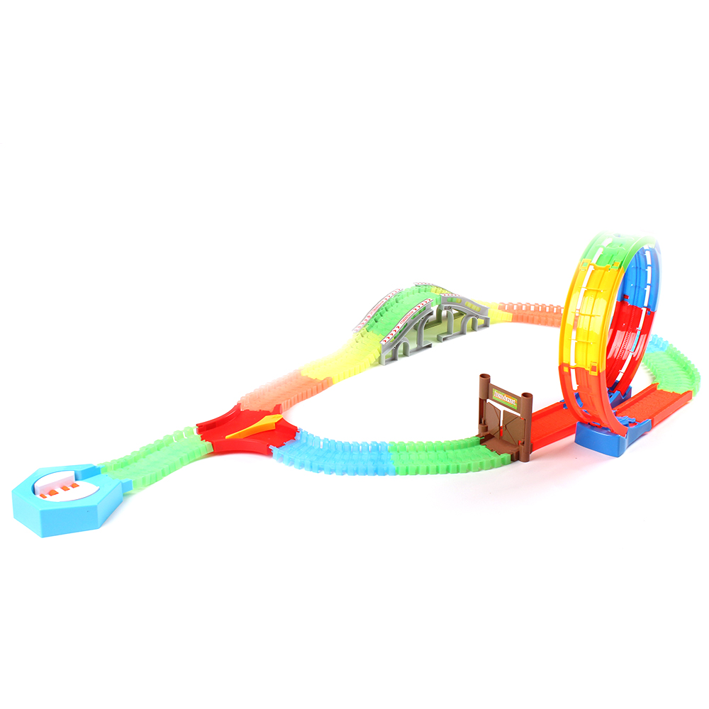 360 Degree Loop Action Glow in Dark Magic Glow Race Track Flexible Assembly Car Track Magical track funny Glowing Race Track