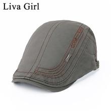 cca07ab6 Liva Girl Brand Spring Summer Male Beret Vintage Flat Cap Beret Fashion  Headwear Men S Women