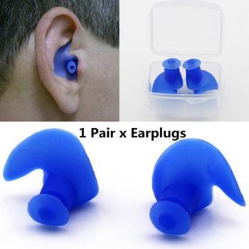 XIUFEN 1 par espiral de silicona ambiental impermeable tapones para los oídos a prueba de polvo en caja accesorios de natación para deportes acuáticos