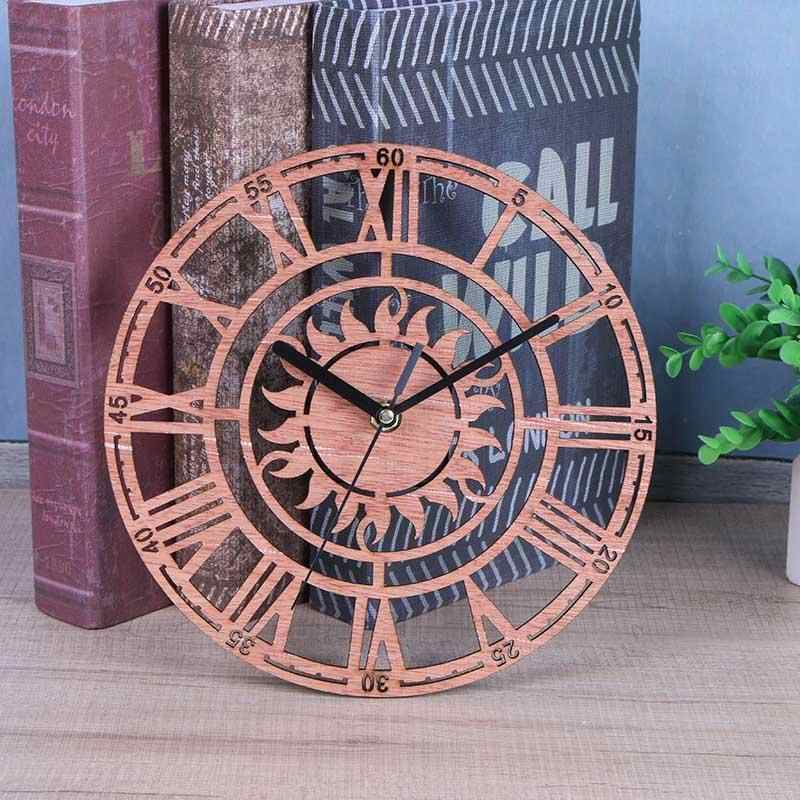 1 pc Reloj de pared de madera para cocina relojes redondos decoración del hogar para elegante decoración reloj de oficina sala de estar dormitorio Cocina