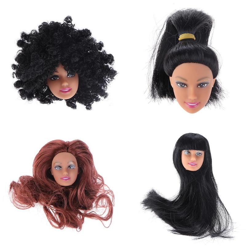 1pc Doll Head with Hair for Barbie Dolls DIY Toys Accessories Gift for Girl