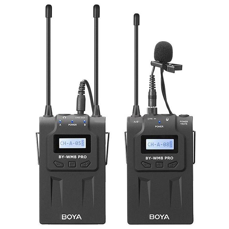 Boya By-Wm8 Pro-K1 Uhf Wireless Lavalier Microphone Kit For Eng Efp Dslr Camera CamcorderBoya By-Wm8 Pro-K1 Uhf Wireless Lavalier Microphone Kit For Eng Efp Dslr Camera Camcorder