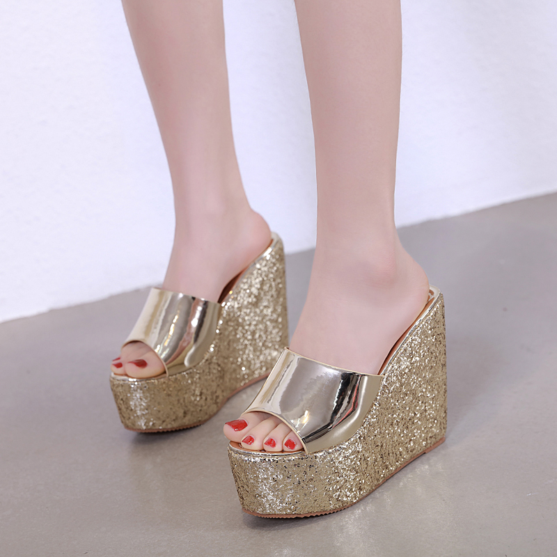 GBHHYNLH Women 39 s Slippers Summer shoes Beach Casual Shoes Sexy Flip Flops Female Slides Bohemian shoes wedge flip flops LJA654 in Slippers from Shoes