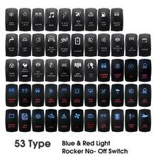 12 В 24 в двойной светодиодный кулисный переключатель красный синий свет кулисный переключатель кнопка для автомобиля лодки морской караван 4x4