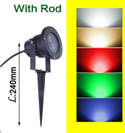 10 W 6 Farben Outdoor Landschaft Garten Licht Led Rasen Lampe Ip65 Wasserdichte Led Flood Spot Licht Mit Stange Dc 12-24 V Angenehm Zu Schmecken
