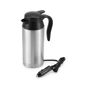 750ml 12V Car Based Heating Stainless Steel Car Electric Cup Kettle Travel Coffee Tea Heated Hot Water For Car Use