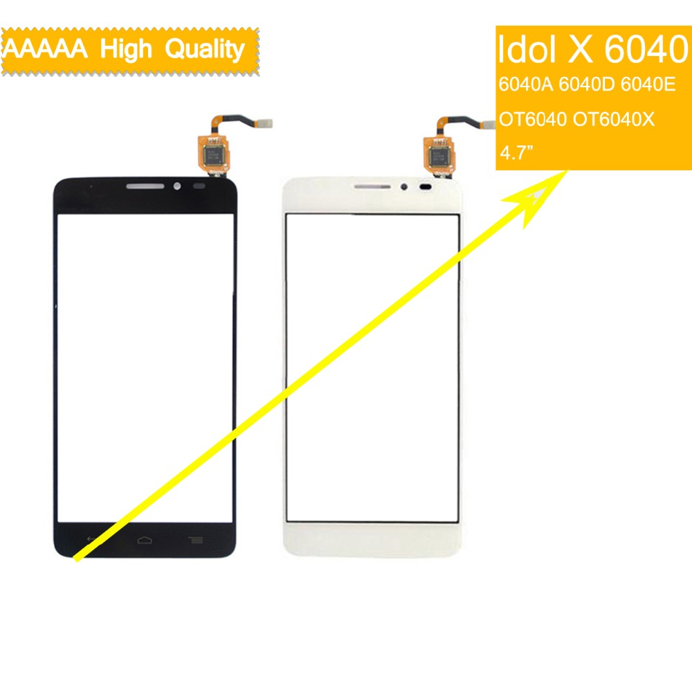10pcs touch screen For Alcatel One Touch Idol X OT6040 6040 6040A 6040D 6040E TouchScreen Sensor Digitizer Glass Front Panel10pcs touch screen For Alcatel One Touch Idol X OT6040 6040 6040A 6040D 6040E TouchScreen Sensor Digitizer Glass Front Panel