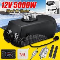 Audew 12V 5KW Car Heater Diesels Air Parking Heater LCD Monitor Switch + 15L Tank&Silencer for Trucks Bus Trailer Motorhome