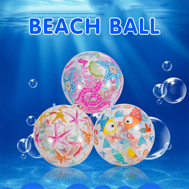 Children Inflatable Water Ball Outdoor Swimming Toy PVC Inflatable Beach Elastic Float Ball Parent Child Interactive Toy