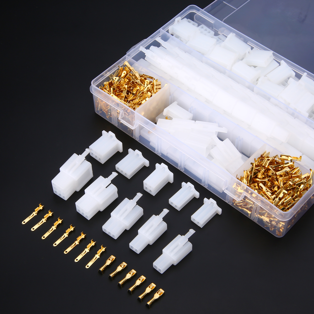 hight resolution of 2 8mm electrical wire connector 2 3 4 6 9 pin male female terminal plug 580pcs car audio