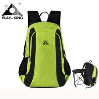 PLAYKING Outdoor Backpack Camping Hiking Travel Backpack Women Waterproof Hunting Fishing Backpack Folding Chair Men Sport Bag