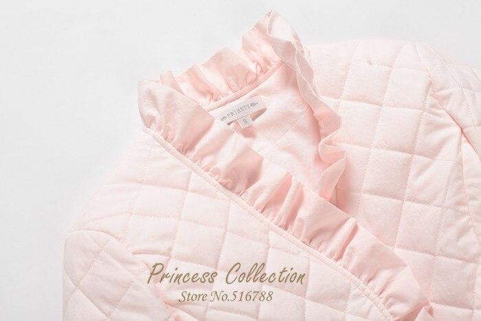 En gros usine livraison gratuite 100% coton princesse femmes vêtements de nuit d'hiver pyjamas ensemble maison Coth camisolas de dormir - 5