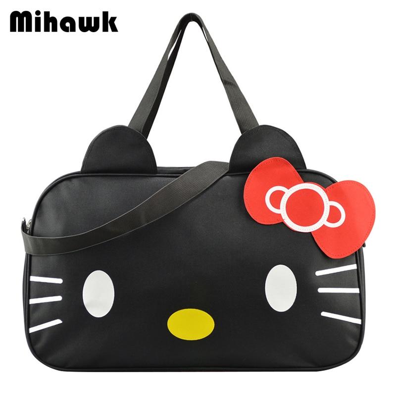 Mihawk Cute Hello Kitty Handbag Girl s Women s Travel Messenger Bags Dual-use  Organizer Shoulder Accessories Supplies Products 0b0b9e00e34ac