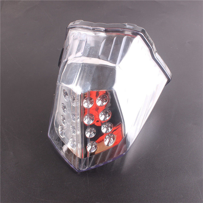 Clear For Yamaha XJ6 FZ6R DIVERSION 600 2009-2014 10 11 12 13 LED Integrated Turn Signals Tail Light