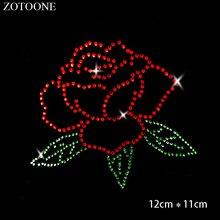 ZOTOONE Rose Rhinestones Applique Clear Hotfix Rhinestone Stones for Clothes Decoration Strass Needlework Crystals Cyrkonie E