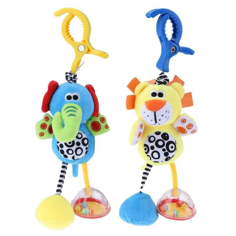 Baby Kids Rattles Toys Cotton Stroller Pram Crib Hanging Soft Plush Toys Animal Clip Baby Crib Bed Hanging Bells Toys For Baby