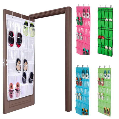24 Pocket Shoe Space Door Hanging Organizer Rack Wall Bag Storage Closet Holder 4