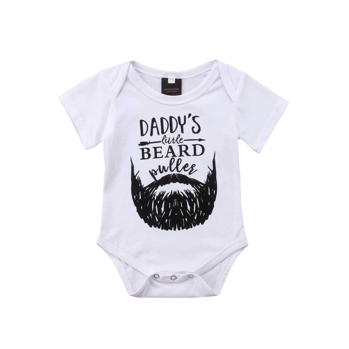 Emmababy 2019 Beard Newborn Toddler Baby Boy Girl Short Sleeve   Romper   Babygrows Outfits