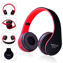 Wireless Bluetooth Headset Gaming Headphones 4.1 Earphones StereoFoldable Audio Mp3 Adjustable  with MIC
