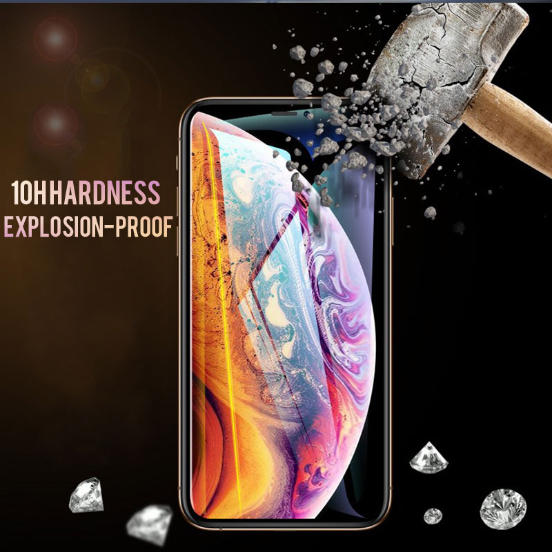 Image 2 - 30D Protective Glass on the For iPhone X XS Max XR Tempered Screen Protector Curved Edge Glass 11 Pro XR XS Max Full Cover Glass-in Phone Screen Protectors from Cellphones & Telecommunications