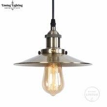 Современный Железный подвесной светильник E27, винтажная Светодиодная лампа в стиле индастриал, лофт, ретро, столовая, Ресторан, Бар, стойка для спальни
