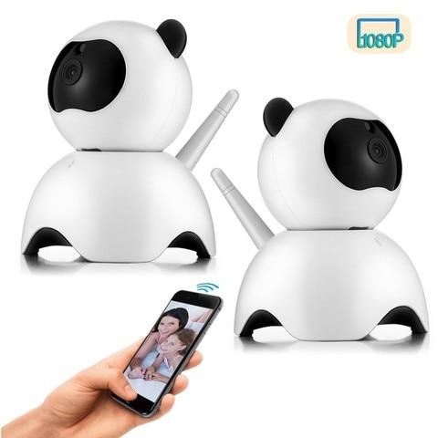 2 pcs baby monitor home security hd 1080 p cameras ip com visao noturna de