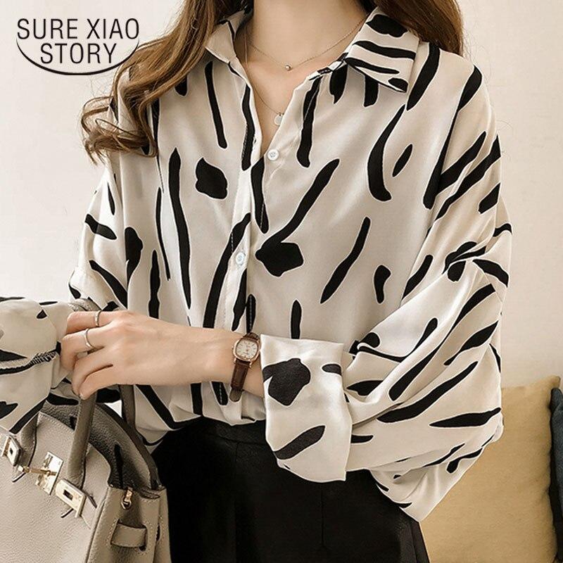 Fashion Womens tops and Blouses 2019 Plus Size 3XL 4XL Striped Long Sleeve Shirt Women Blouses shirt Clothing Female 1182 40