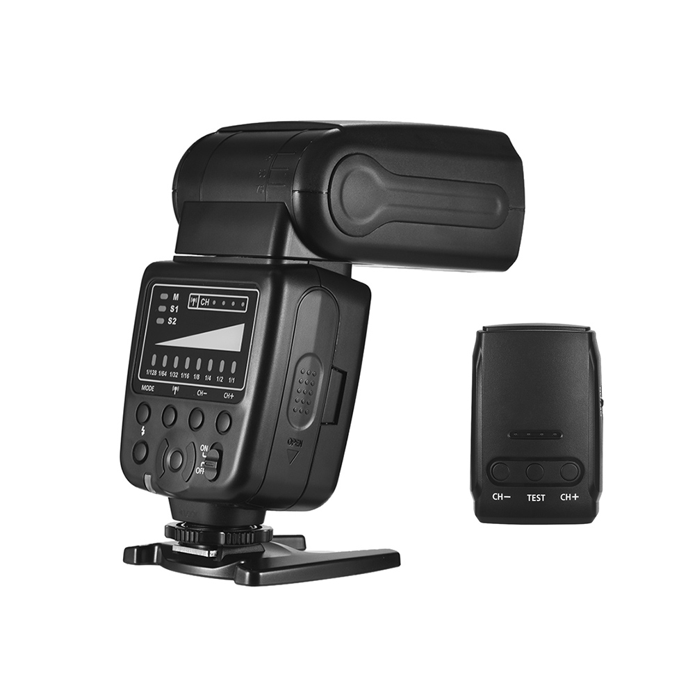 2 4G Wireless Speedlite in Flashes 5600K GN33 with Flash Trigger Universal Speedlight for Canon Sony