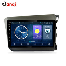 9 inch android 8.1 car multimedia gps navigation system for Honda civic 2012-2015 right hand drive support SWC RDS(China)